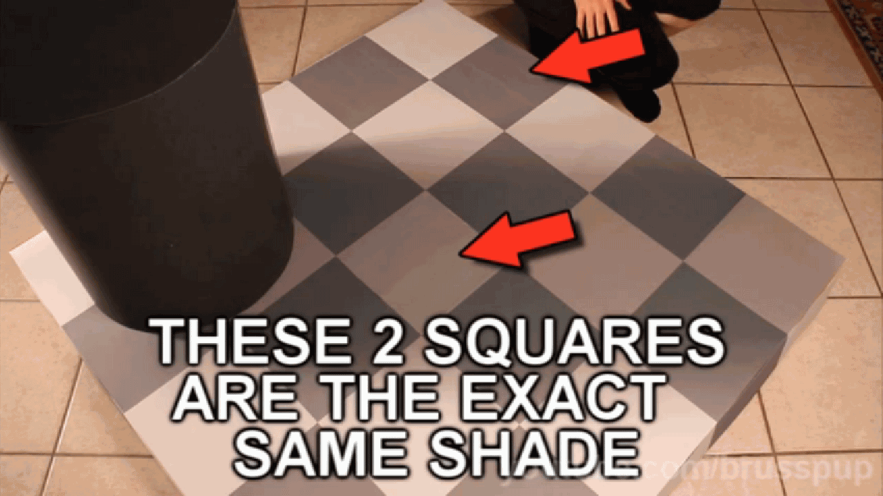 These 2 squares are the exact same shade.